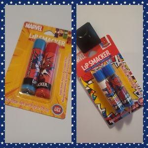 2 - 2 packs of lipsmackers super hero chapstick